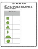 Shapes, Tally, and Bar Graph Math Task