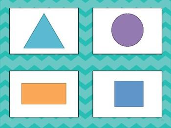 Shapes Task Card Matching