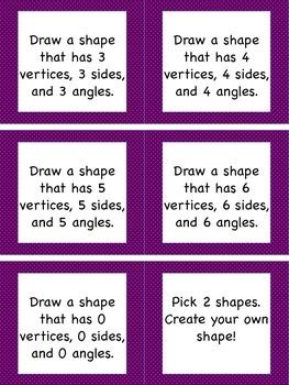 Shapes Task Cards
