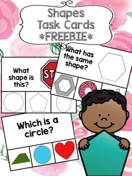 Shapes Task Cards FREEBIE