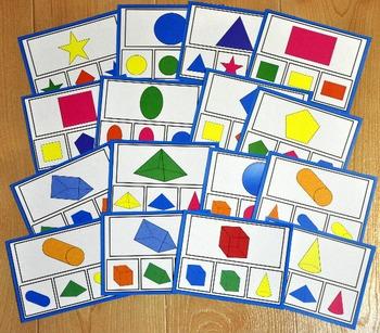 Shapes Task Cards:  Identifying Shapes