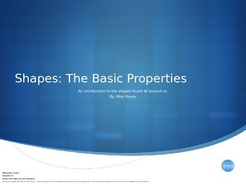 Shapes: The Basic Properties
