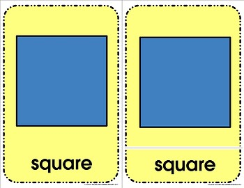 Shapes - Three Part Cards