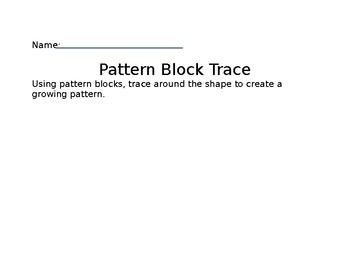 Shapes Tracing Activity