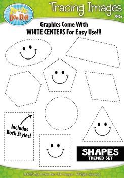 Shapes Tracing Image Clipart {Zip-A-Dee-Doo-Dah Designs}