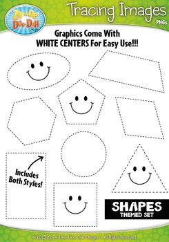 Shapes Tracing Image Clipart Set — Includes 20 Graphics!