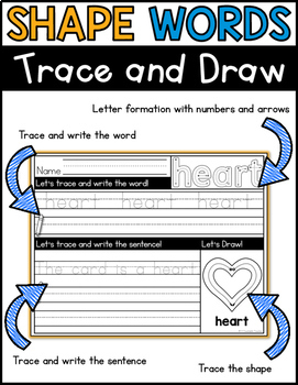 Shapes Tracing (Print and D'Nealian)