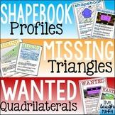 Shapes, Triangles, & Quadrilaterals Math Activities Bundle