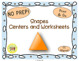 Shapes Worksheets Activities Games Printables and More