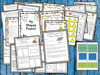 Shapes Activity Pack: Shapes Games, Shape Fractions, Shape Activities & MORE!