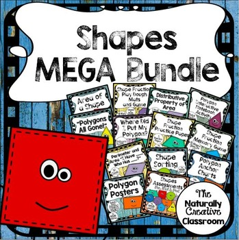 Shapes Activity Pack: Shapes Games, Shape Fractions, Shape