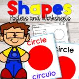 Shapes Vocabulary | ESL| Worksheets