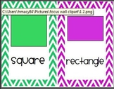 Shapes Wall Display - Colorful Chevron Backgrounds