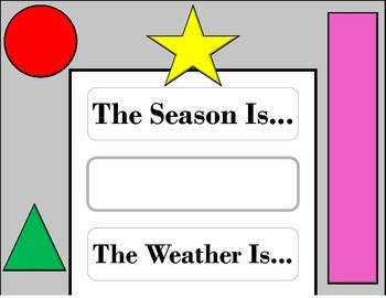 Shapes Weather Chart! Shape Bulletin Board! Shape Theme! Shapes and Colors!