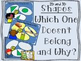 2D and 3D Shapes -  Which One Doesn't Belong and Why?