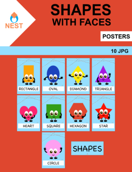 Shapes With Faces Posters