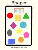Shapes Word Wall Cards English
