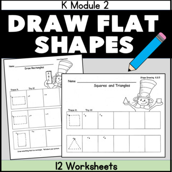 Shapes Workbook  Cat in the Hat Common Core Aligned 12 pgs with cover