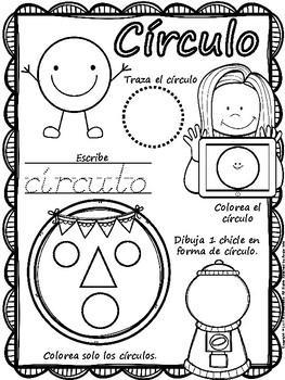 Shapes Workbook Spanish