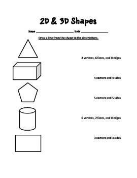 Shapes Worksheet Bundle