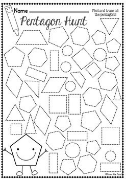 math worksheet : shapes worksheet packet  busy work for 2d shapes by from the pond : 2d Shapes Worksheets