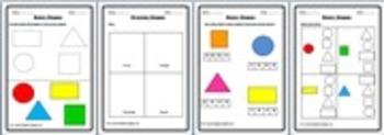 Shapes Worksheets for Preschool & Kindergarten