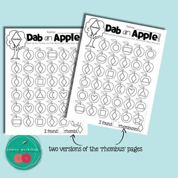 Dot a Shape - Apple Activities