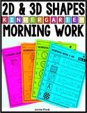 Shapes Worksheets   2D & 3D Shapes Morning Work