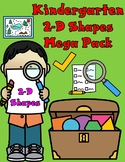Shapes Worksheets:  Kindergarten 2D Shapes