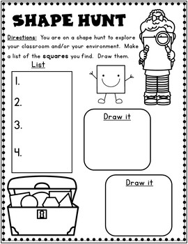 Shapes Worksheets: Kindergarten 2D Shapes by Bilingual Teacher World