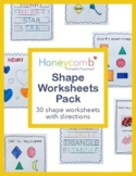 Shapes Worksheets for Preschool, PreK, Kindergarten & Homeschool