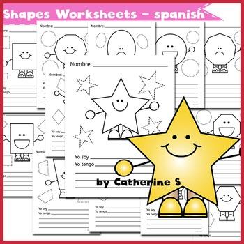 Shapes Worksheets (spanish)