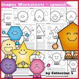 2D Shapes Worksheets (spanish)