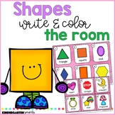Shapes Write and Color the Room