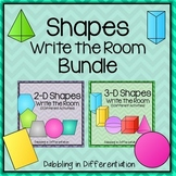 Shapes Write the Room Bundle (2-D and 3-D Shapes)