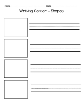Shapes Writing Center Picture Cards