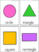 Shapes Writing Center Tools: Math and Science Words