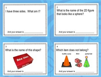 Shapes ___ Polygons Task Cards