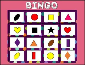 Shapes and Color Fun Games for Math Centers