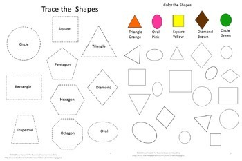 Shapes Matching, Color Recognition,l Kindergarten Math, Special Education Math