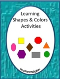 Shapes and Colors Activities P-K,K, Special Education, Autism