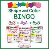 Shapes and Colors Bingo 3x3, 4x4 and 5x5 Bundle