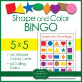Shapes and Colors Bingo 5x5