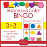 2D Shapes Bingo - Shapes and Colors in 3x3
