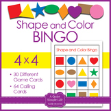 Shapes and Colors Bingo 4x4
