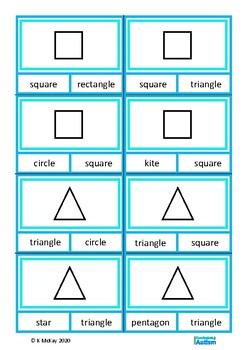 Shapes and Colors Clip Cards, Autism Special Education, SLP, ESL