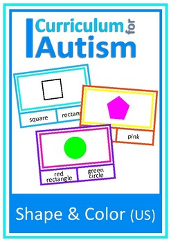 Shapes and Colors Cards Autism Special Education ESL Speech