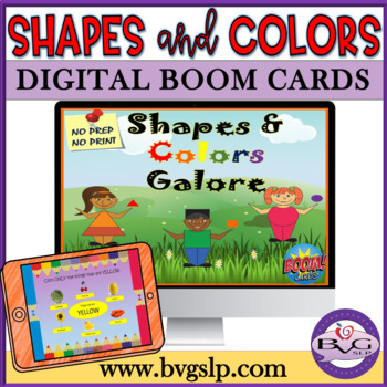 Shapes and Colors Galore BOOM CARD Edition NO PREP, NO PRINT - Teletherapy