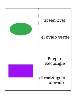 Shapes and Colors Hard Version - Spanish and English