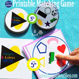 "Shapes & Colors Matching Game Shout Out;  vocabulary. 3"" & 5"""